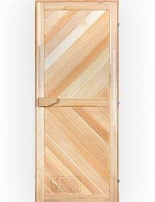 Medinės pirties durys