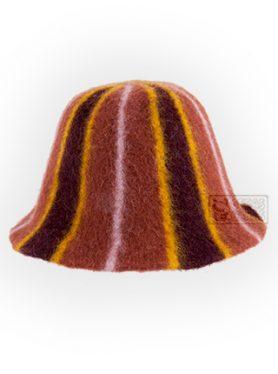 Vilnonė pirties kepurė įvairiaspalvė