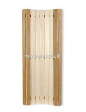 Šviestuvo gaubtas -atlošas iš abachi ir kedro medienos 1m