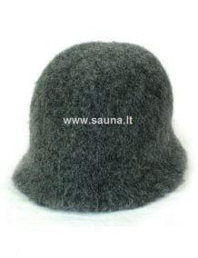 Vilnonė pirties kepurė vienspalvė